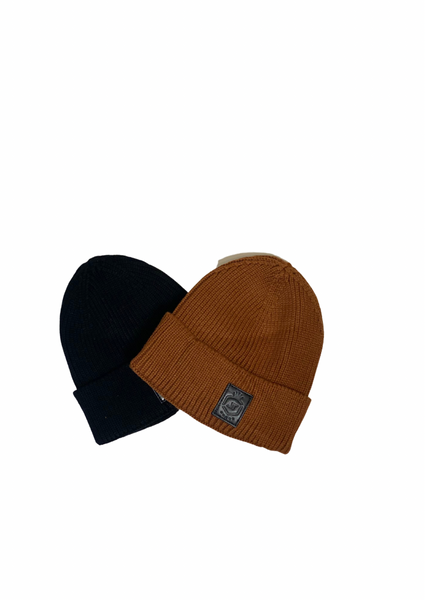 Black Small Jelly Tot Fisherman's Beanie