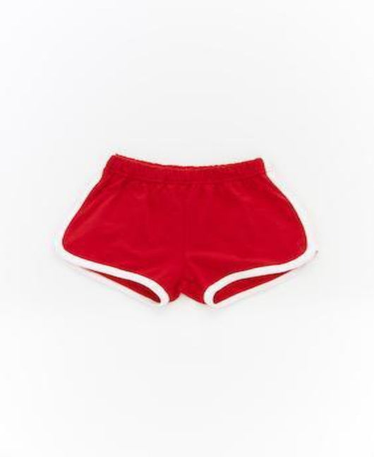Little Edge Red runner shorts