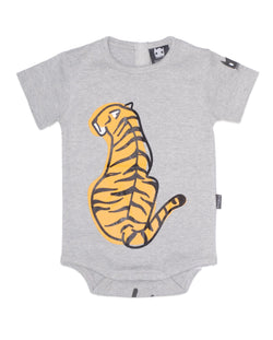 Organic baby onsie Tiger Back Band of Boys