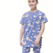 Band of Boys Summer PJ Set Food Fight Blue