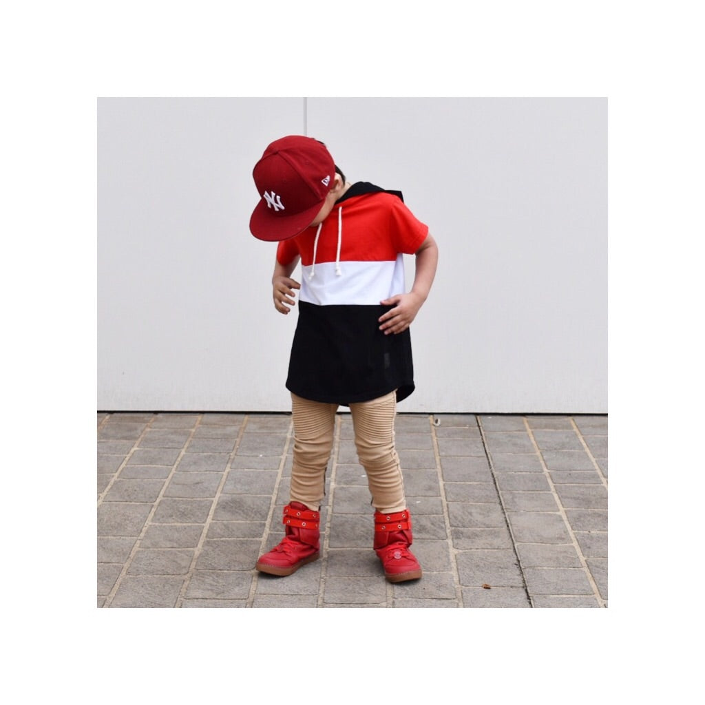 Red Double Hooded Tee