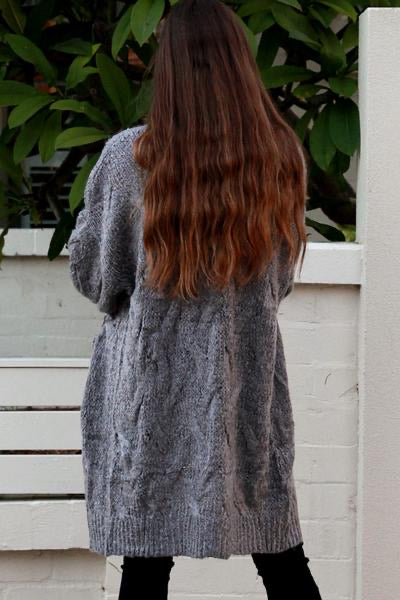 Kenia Cardigan Grey