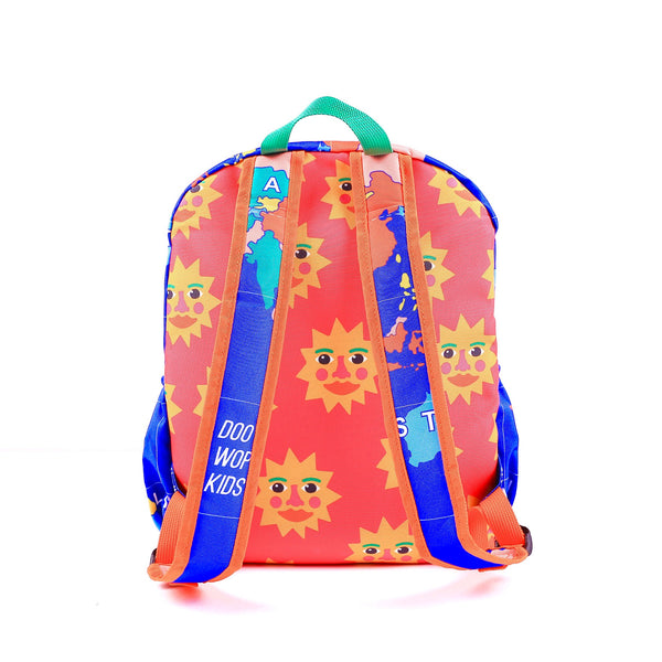 Doo Wop World Map Maxi Round back pack