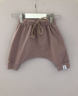 Dusty Pink Harem Shorts