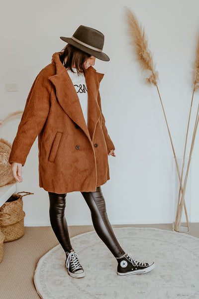 Brown Teddy ladies Coat