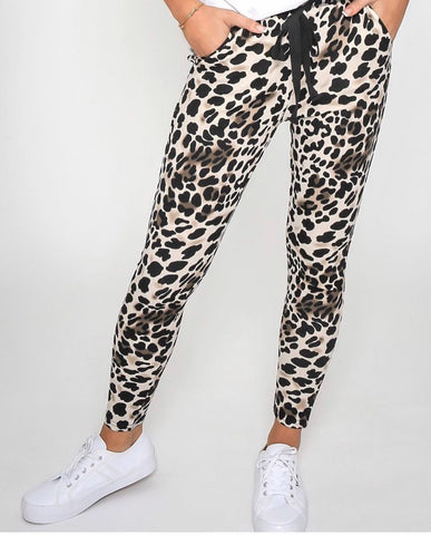 Ladies Brown Leopard Harems