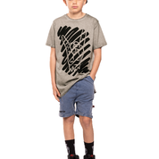 Rock on Step Hem Grey Tee Band of Boys