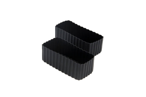 Bento cups rectangle black