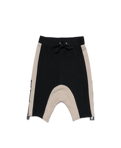 Boys Drop Crotch Skinny Logo Shorts