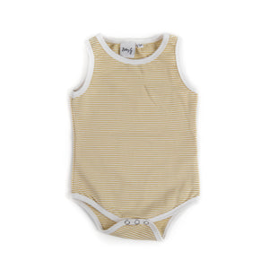Bobby G Sleeveless Body Suit Stripey Lemonade