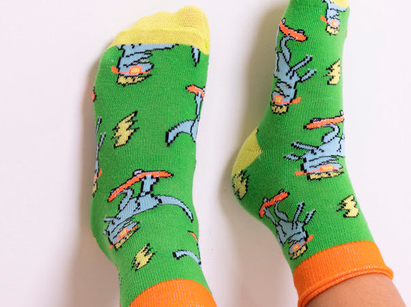 Jurassic Jiving Socks