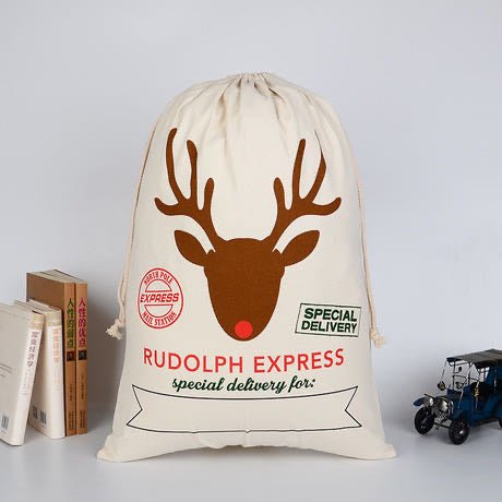 Rudolph Express Santa Sack personalised