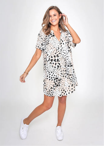 Julia Animal Print Dress