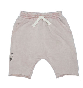 Plain Dusty Pink Terry Zuttion Shorts
