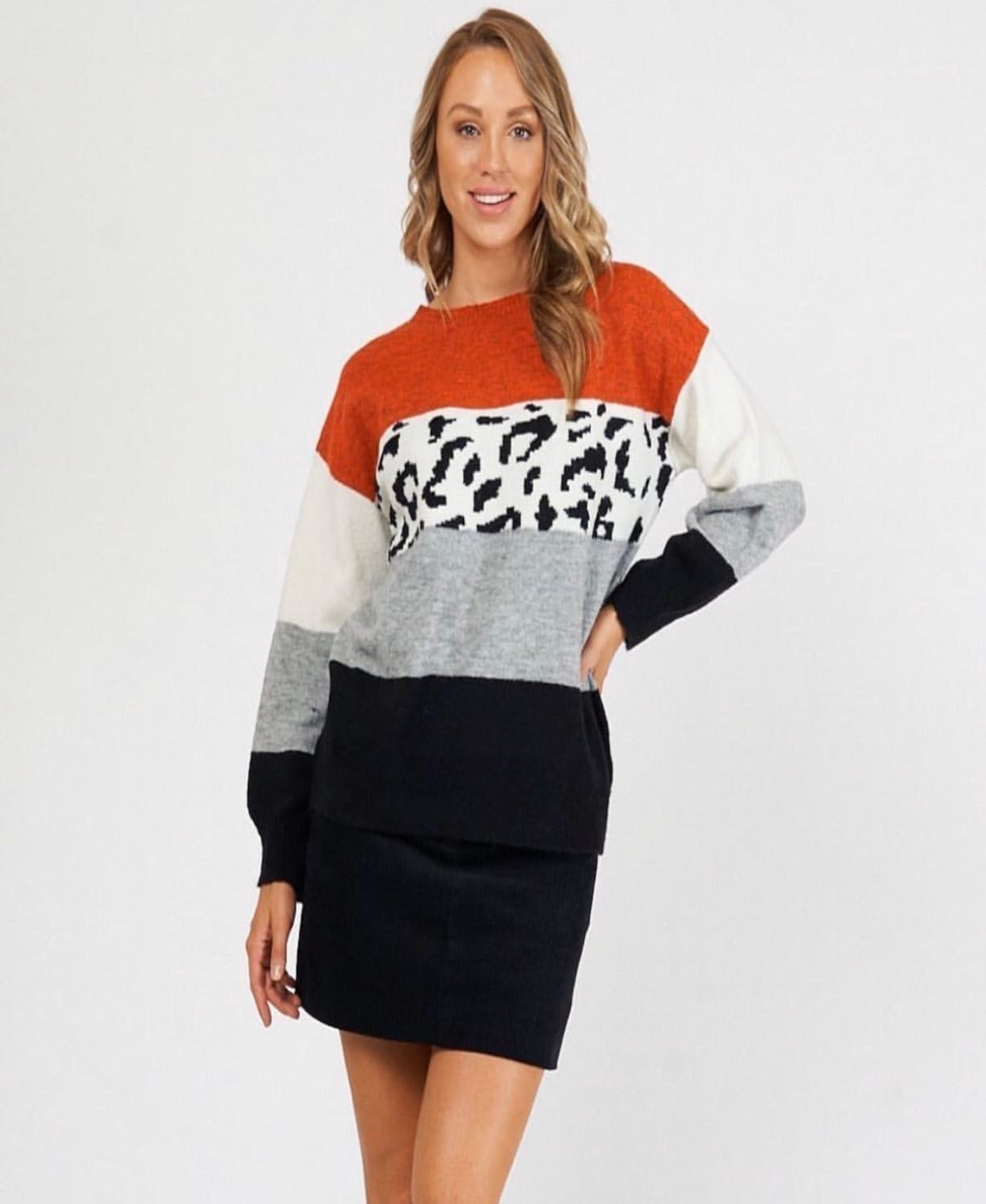 Leopard lovers soft knit orange