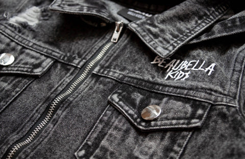Beau Bella Acid Black Denim Jacket