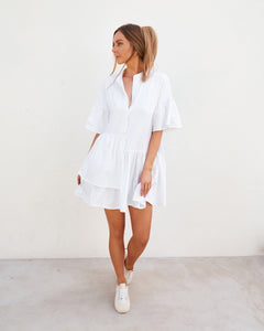 Alia Cotton Dress White