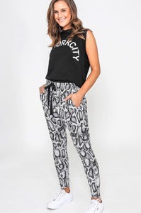 Grey Snake Ladies Joggers