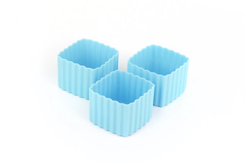 Bento Cups Light Blue Square
