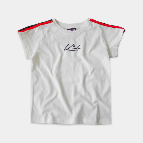 White Stripe Sleeve Tee Beau Bella
