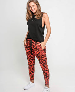 Ladies Red Leopard Harems