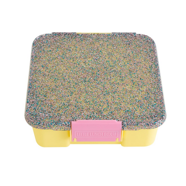 Bento Five - Yellow Glitter Lunch Box