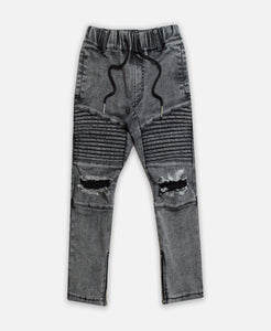 Beau Bella Acid Wash Black Jeans