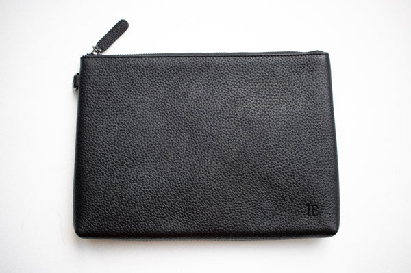 Pebbled leather Bag plain