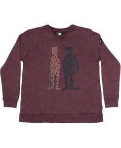 Band of Boys Jumper Cat Friends A-Line Vintage Red