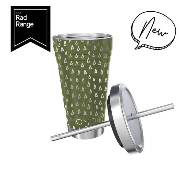 MontiiCo Smoothie Cup Original Olive Geo Print