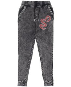 Band of Boys Trackies Skinny Red Snake Vintage Black