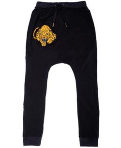 Band of Boys Super Slouch Pants Fierce Leopard Black
