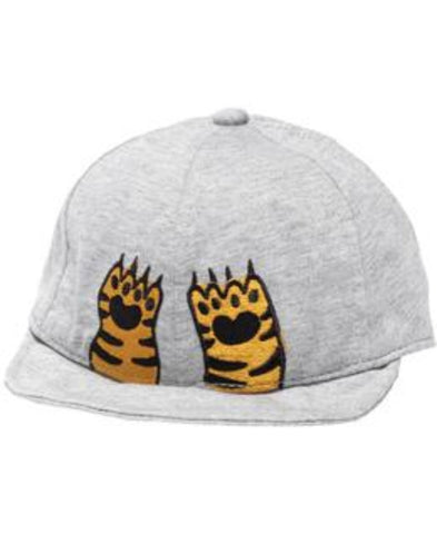 Band of Boys Tiger paws Baby Cap Marle Grey One Size