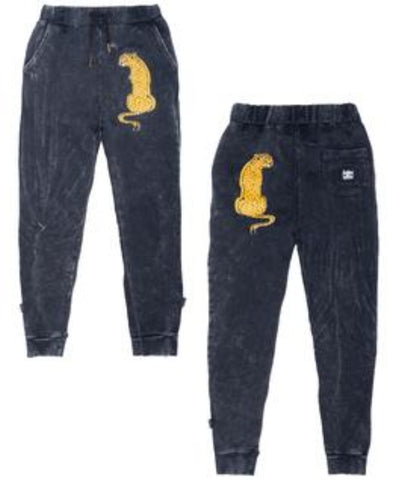 Band of Boys Trackies Skinny Sitting Cheetah Vintage Black