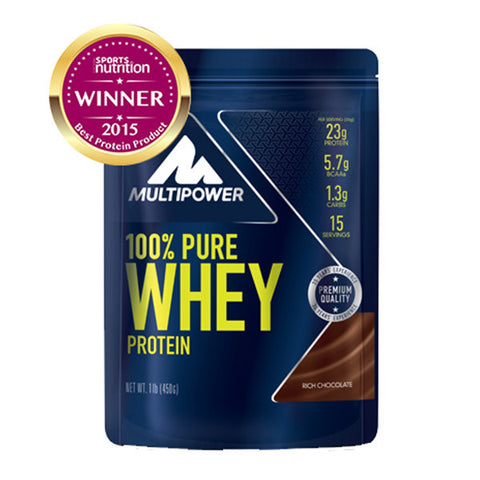 100% PURE WHEY PROTEIN 450g | MULTIPOWER | Outletintegratori.com