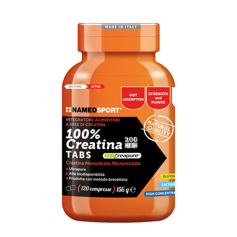 100% CREATINE TABS 120 Cpr | NAMED SPORT | Outletintegratori.com