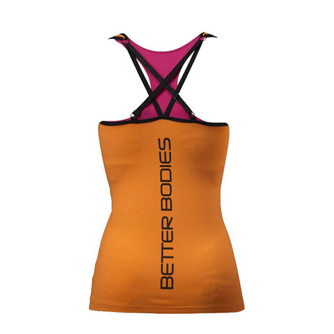 2-LAYER LOGO TOP - BRIGHT ORANGE| BETTER BODIES| Outletintegratori.com
