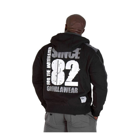 GW 82 JACKET BLACK Retro | GORILLA WEAR | Outletintegratori.com