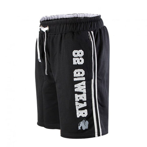 GW 82 SWEAT SHORTS BLACK & GREY 1 | GORILLA WEAR | Outletintegratori.com