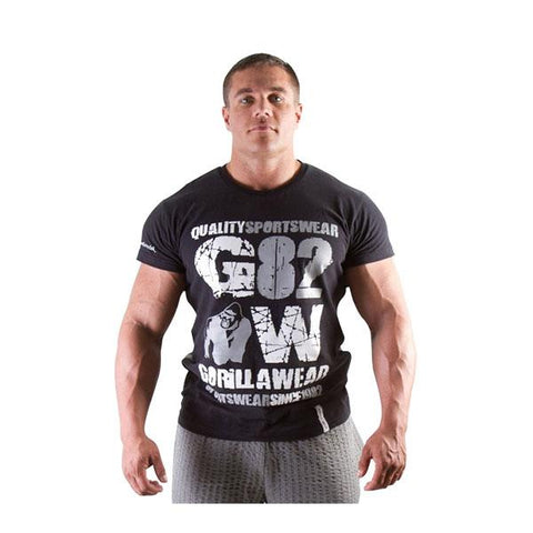 GW 82 TEE BLACK & GREY 1 | GORILLA WEAR | Outletintegratori.com