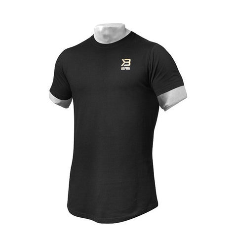 ALPHA ZIP TEE - BLACK | BETTER BODIES | Outletintegratori.com