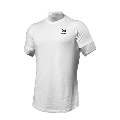 ALPHA ZIP TEE - WHITE | BETTER BODIES | Outletintegratori.com