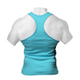 ATHLETIC RIB TANK - AQUA BLUE | BETTER BODIES | Outletintegratori.com