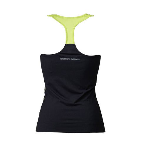 ATHLETE T-BACK - BLACK & LIME | BETTER BODIES | Outletintegratori.com