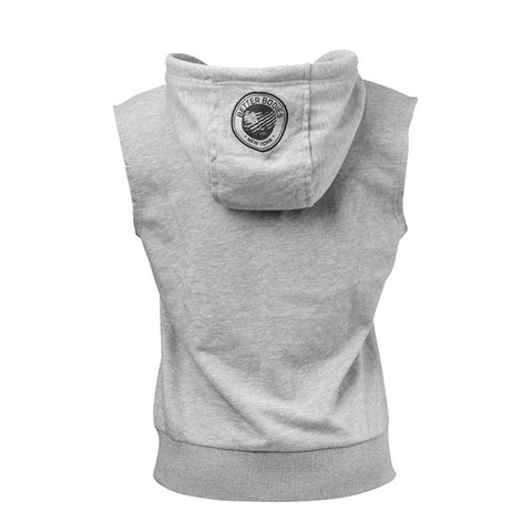 ATHLETIC S/L HOOD - GREY MELANGE |BETTER BODIES |Outletintegratori.com