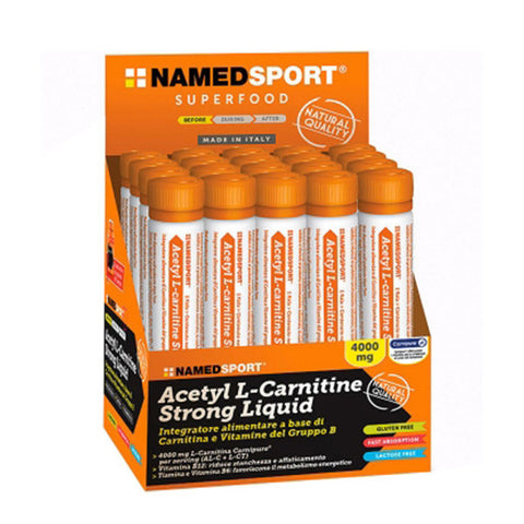 ACETIL L-CARNITINE STRONG LIQUID 20x25ml | NAMED SPORT | Outletintegratori.com