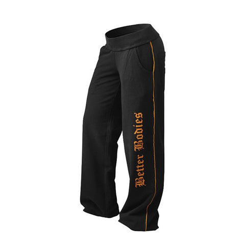 BAGGY SOFT PANT - BLACK & ORANGE |BETTER BODIES |Outletintegratori.com