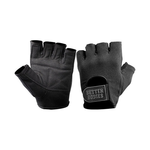 BASIC GYM GLOVES - BLACK | BETTER BODIES | Outletintegratori.com