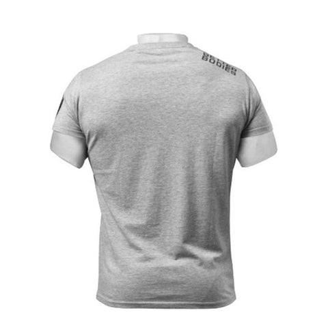 BASIC LOGO TEE - GREY MELANGE | BETTER BODIES | Outletintegratori.com