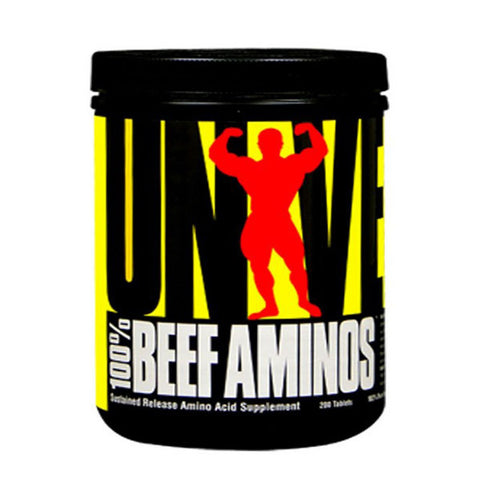100% BEEF AMINO'S 200 Tabs | UNIVERSAL | Outletintegratori.com